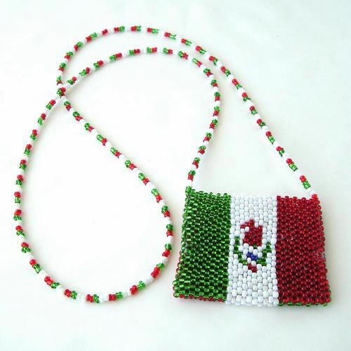 Mexican Flag Amulet Bag